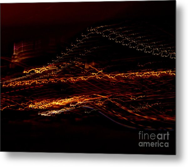 Streaks Across The Bridge Metal Print