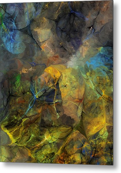Stream Bed On A Sunny Day Metal Print