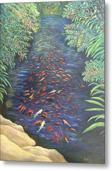 Stream Of Koi Metal Print