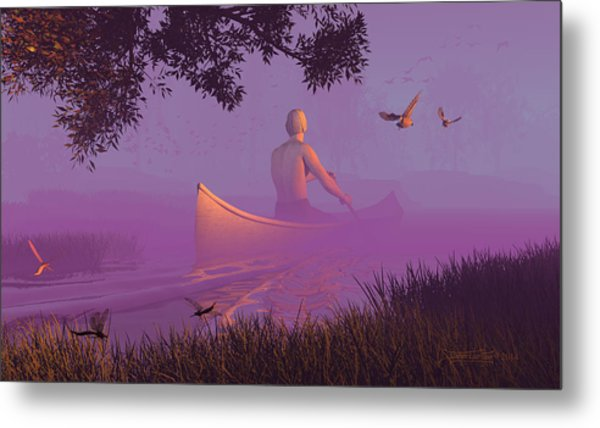 Streamglider Metal Print