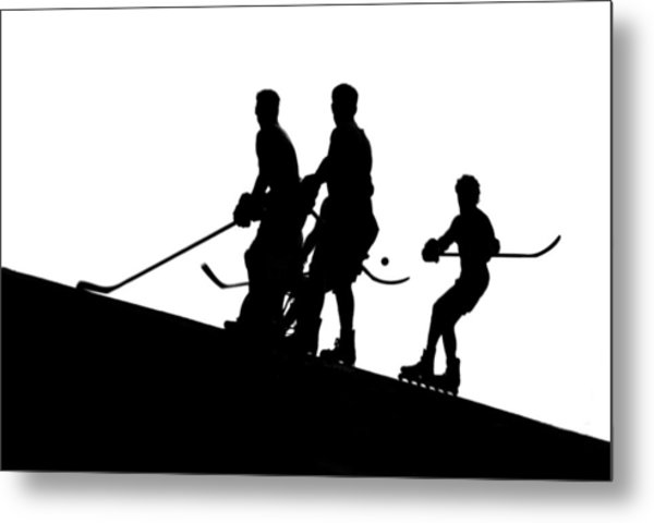Street Hockey Metal Print