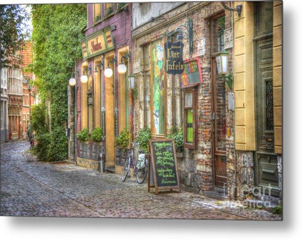 Street In Ghent Metal Print