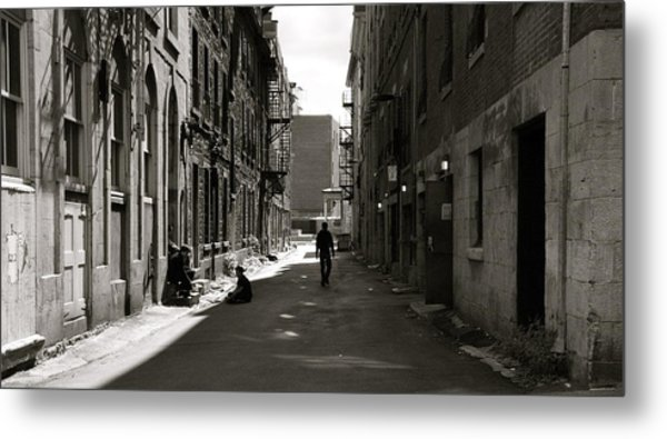 Street In Sunshine Metal Print by Jocelyne Choquette