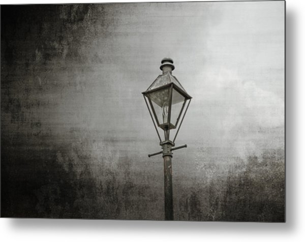 Street Lamp On The River Metal Print