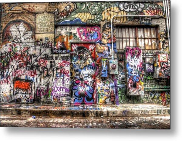 Street Life Metal Print