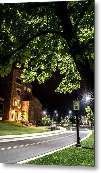 Street Lights In Slow Ville Metal Print