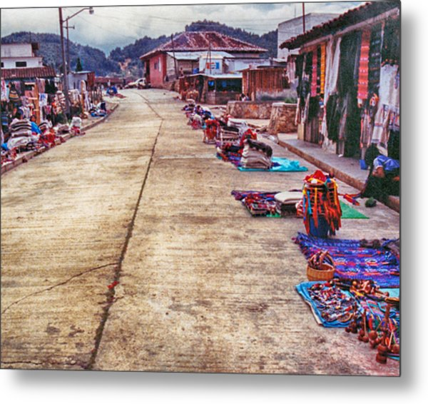 Street Market Metal Print
