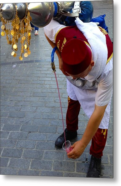 Street Seller Selling Refreshing Pomme Grenade Apple Juice Istanbul Turkey Metal Print by PIXELS  XPOSED Ralph A Ledergerber Photography