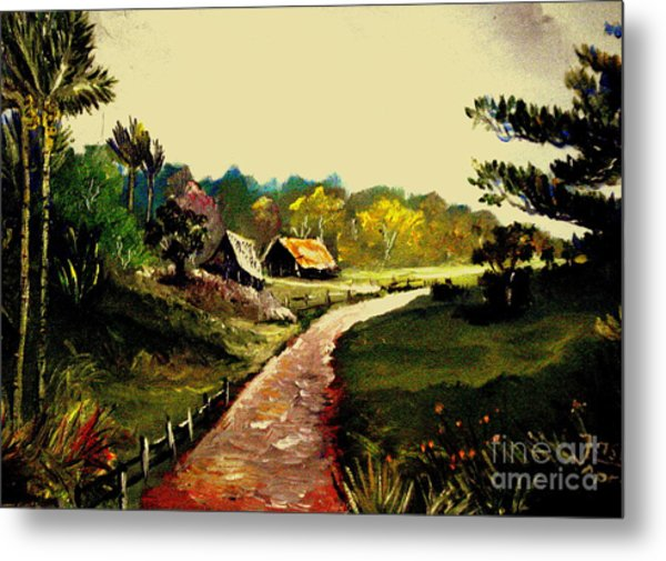 Street  To Countryside Metal Print