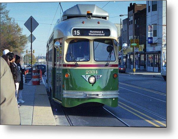 Streetcar In Philadelphia Metal Print by Eric Miller