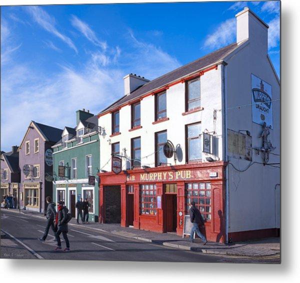 Streets Of Beautiful Dingle Ireland Metal Print