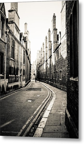 Streets Of Cambridge - For Eugene Atget Metal Print