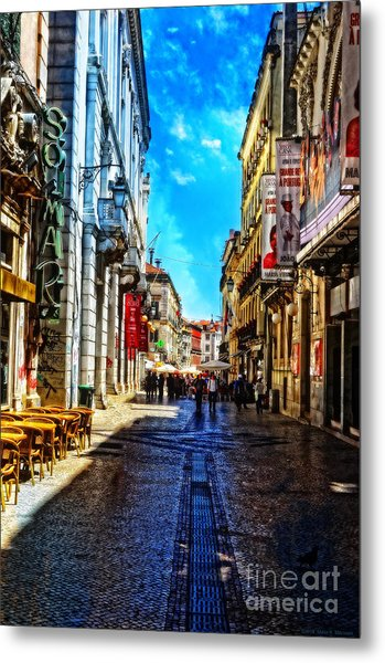 Streets Of Lisbon 1 Metal Print