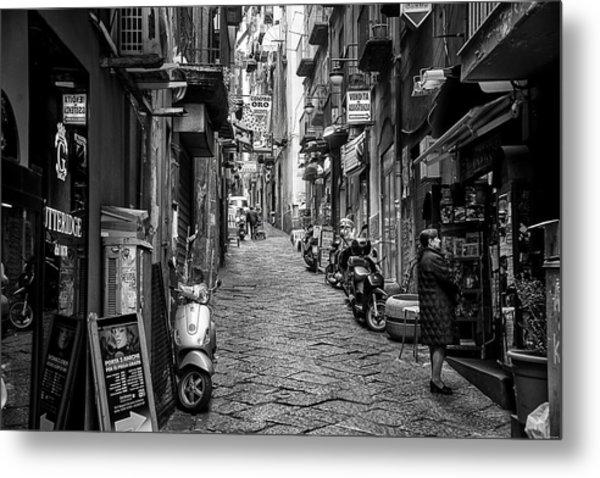 Streets Of Naples Metal Print