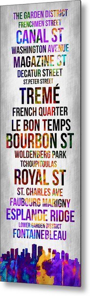 Streets Of New Orleans 1 Metal Print