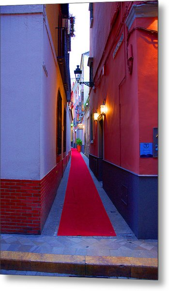 Streets Of Seville - Red Carpet  Metal Print