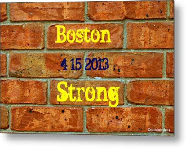 Strength And Courage Metal Print