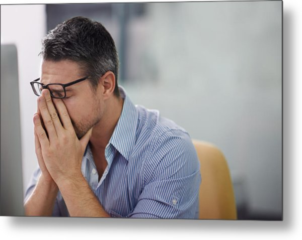 Stressful Day At The Office Metal Print by PeopleImages