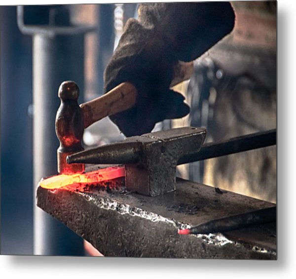 Strike While The Iron Is Hot Metal Print