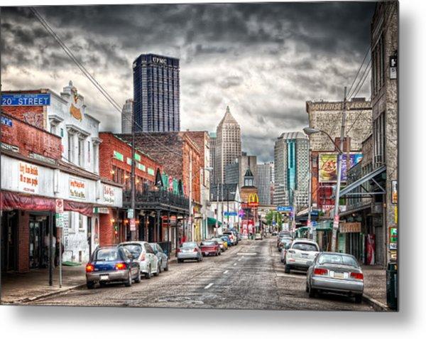 Strip District Pittsburgh Metal Print