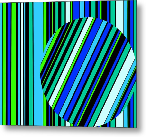 Striped Circle  C2014 Metal Print
