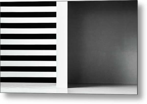 Stripes And Shadows Metal Print by Inge Schuster