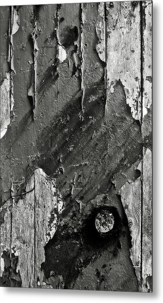 Stripping Hull Of An Old Abandoned Ship Metal Print