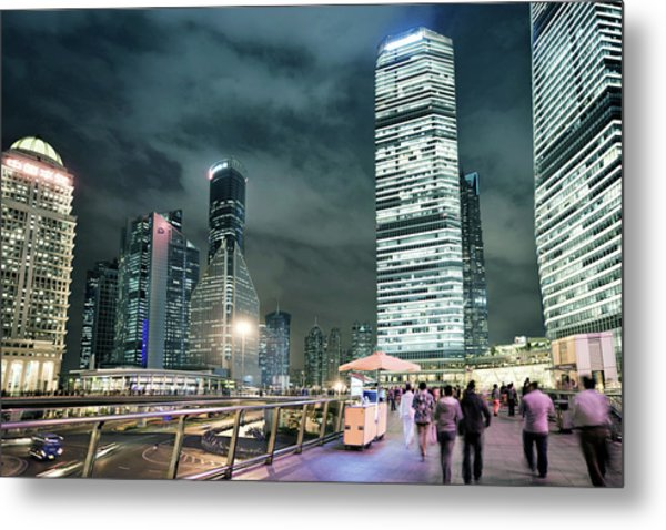 Stroll At Mid-level Shanghai Metal Print by Andy Brandl