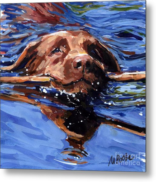 Strong Swimmer Metal Print