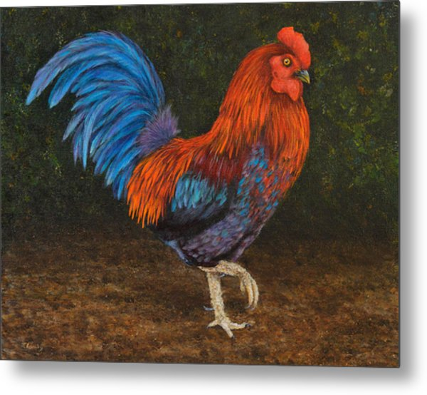 Struttin' My Colors Metal Print