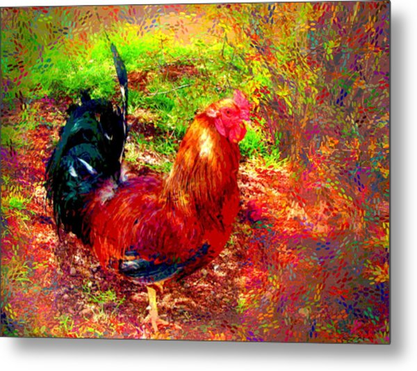 Strutting In Living Color Metal Print