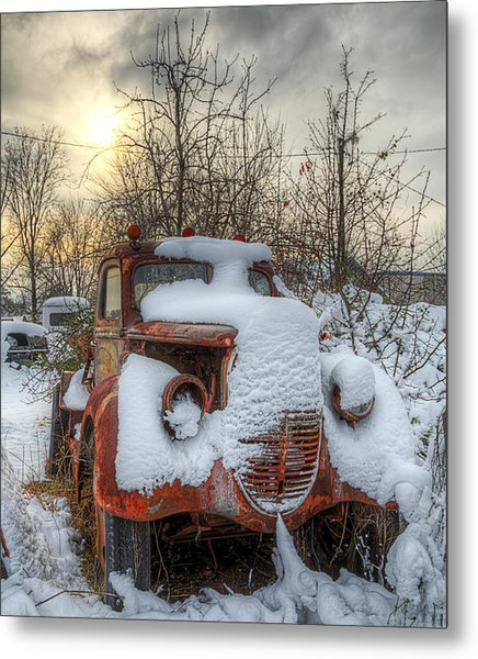 Stuck In The Snow Metal Print