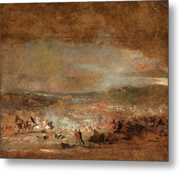 Study For Battle Of Waterloo Study For Battle Of Waterloo Metal Print by Litz Collection