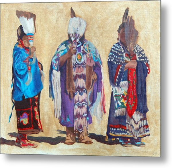 Study For The Three Sentinels Metal Print