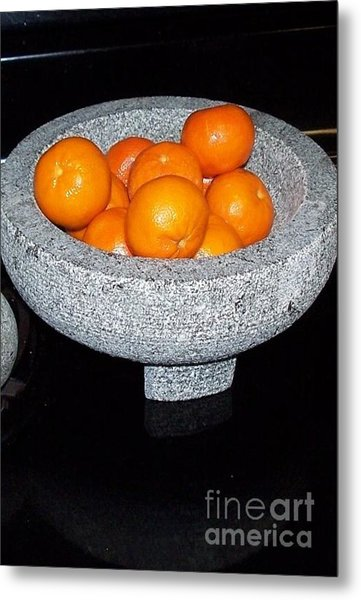 Study In Orange And Grey Metal Print