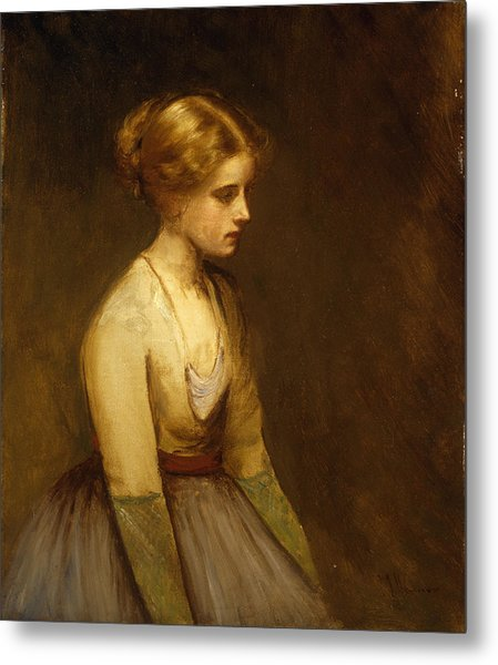 Study Of A Fair Haired Beauty  Metal Print