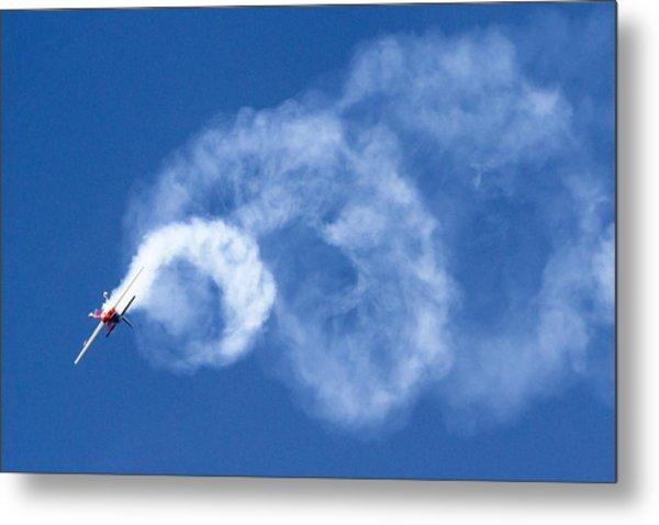 Stunt Plane Corkscrew Metal Print
