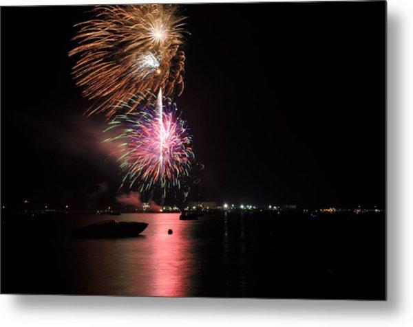 Sturgeon Bay Fireworks Metal Print