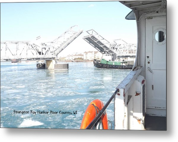 Sturgeon Bay's Working Harbor Metal Print