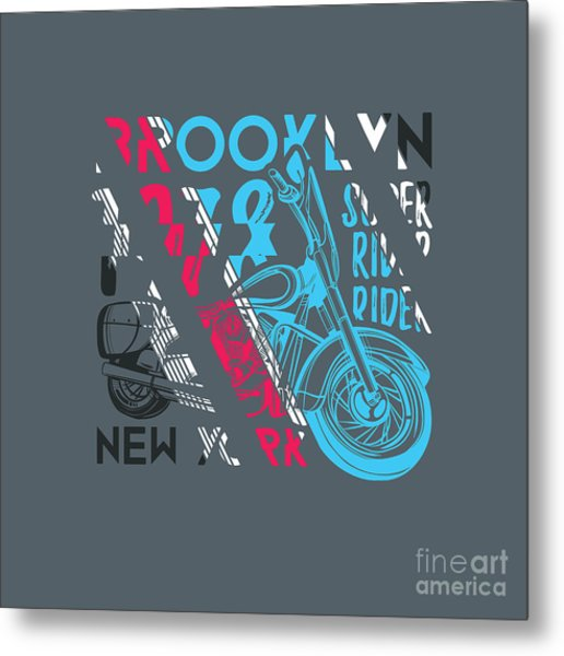 Stylish Vector Illustration Of Vintage Metal Print