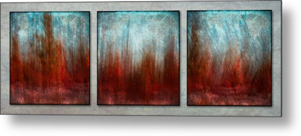 Stylized Beach Grasses Metal Print