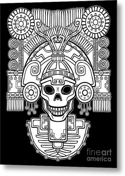 Stylized Skull. Pagan God Of Death Metal Print