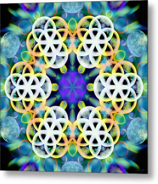 Subatomic Orbit Metal Print