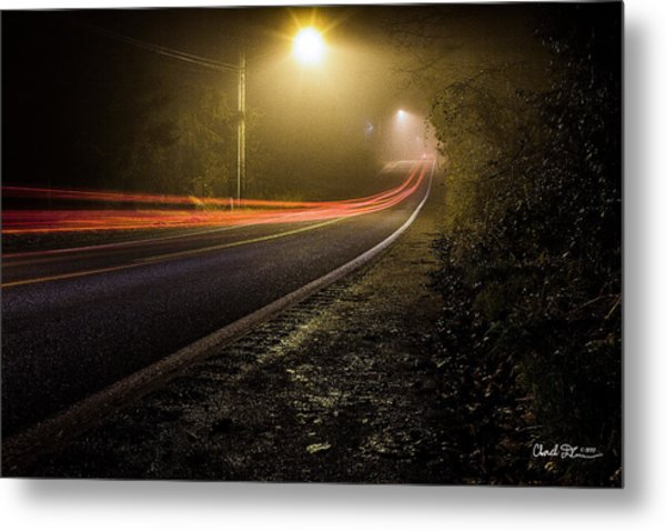 Suburbian Night Metal Print