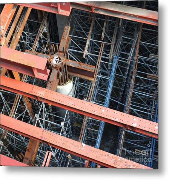 Subway Construction Site Metal Print