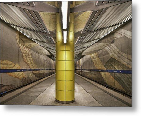 Subway Munich Metal Print