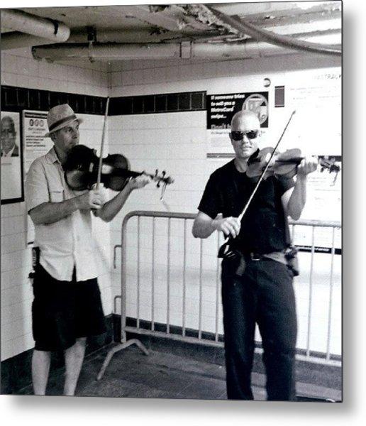 Subway Performers #nyc #music Metal Print