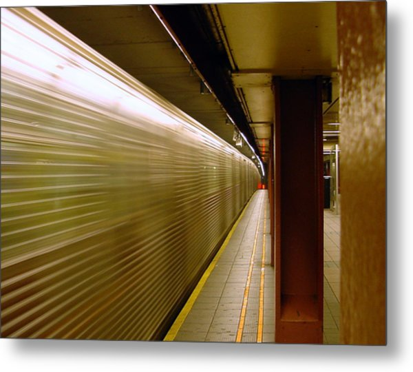 Subway Speed Metal Print