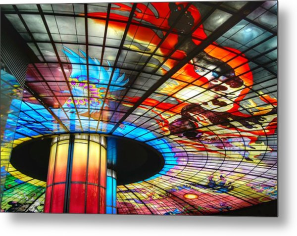 Subway Station Ceiling  Metal Print