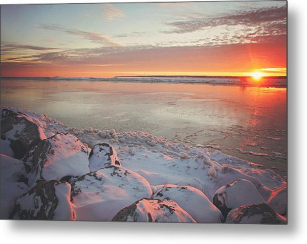 Subzero Sunrise Metal Print